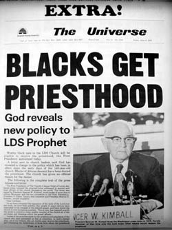 Mormonism, Blacks and the Priesthood